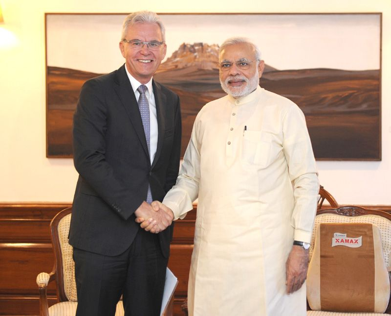 Bernhard Gerwert, CEO, Airbus Defence and Space, calls on Prime Minister Narendra Modi