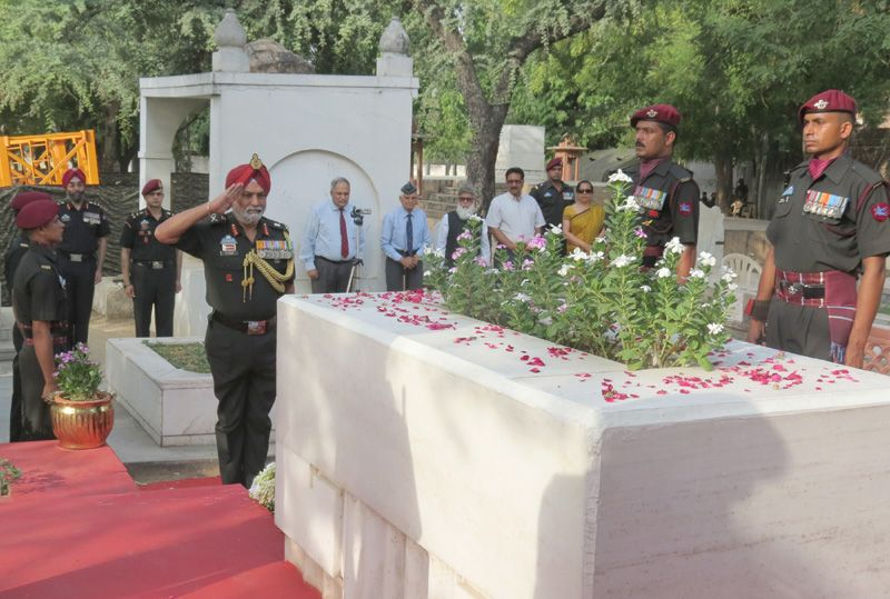 Wreath Laying Ceremony of Brig Mohammad Usman, MVC