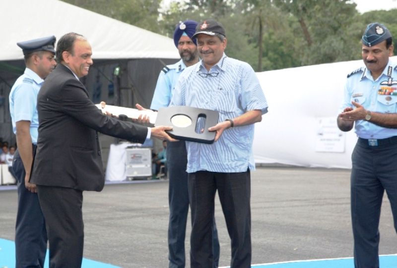 Handing over the Notional Key of Akash Missile System
