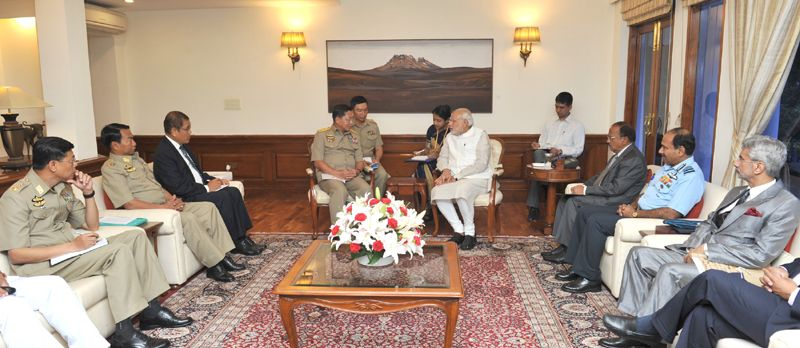 The Commander-in-Chief of Defence Services Myanmar in India