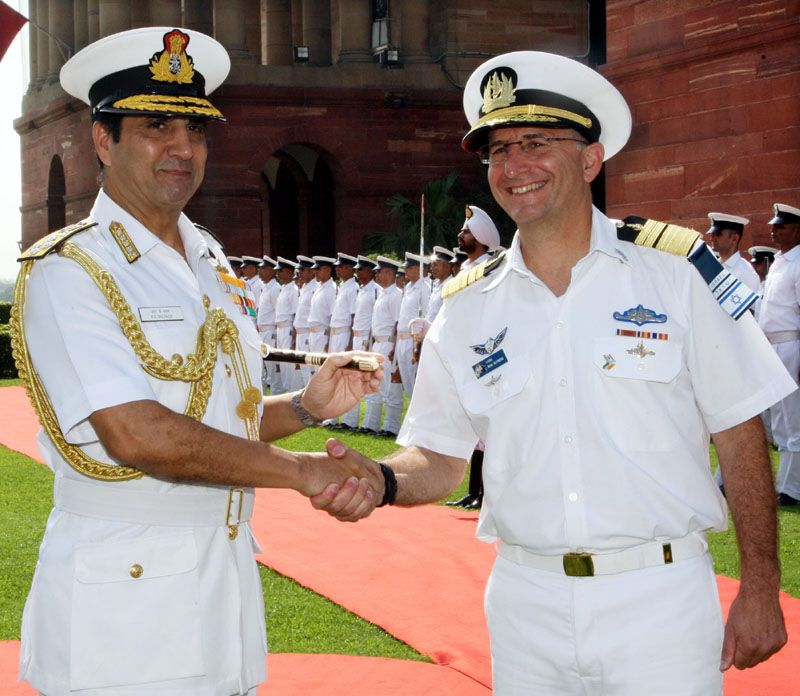 Vice Admiral Ram Rutberg, Commander-In-Chief of Israeli Navy is on an official visit to India
