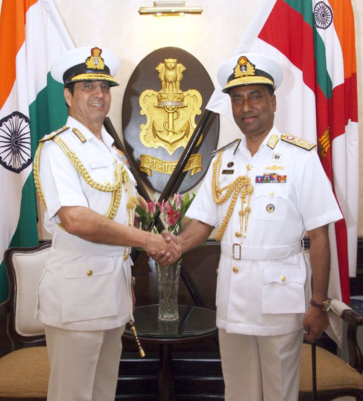 Chief of the Naval Staff, Bangladesh Navy, Vice Admiral Muhammad Farid Habib, in New Delhi