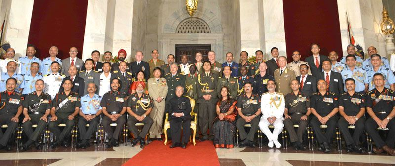 The President Pranab Mukherjee with the members of NDC