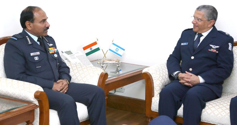 Israeli Commander of Air and Space Forces meets Chief of the Air Staff, IAF
