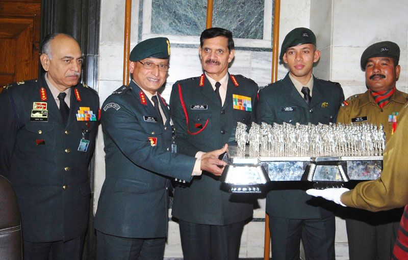 Best Marching Contingent Trophy for Army Day Parade