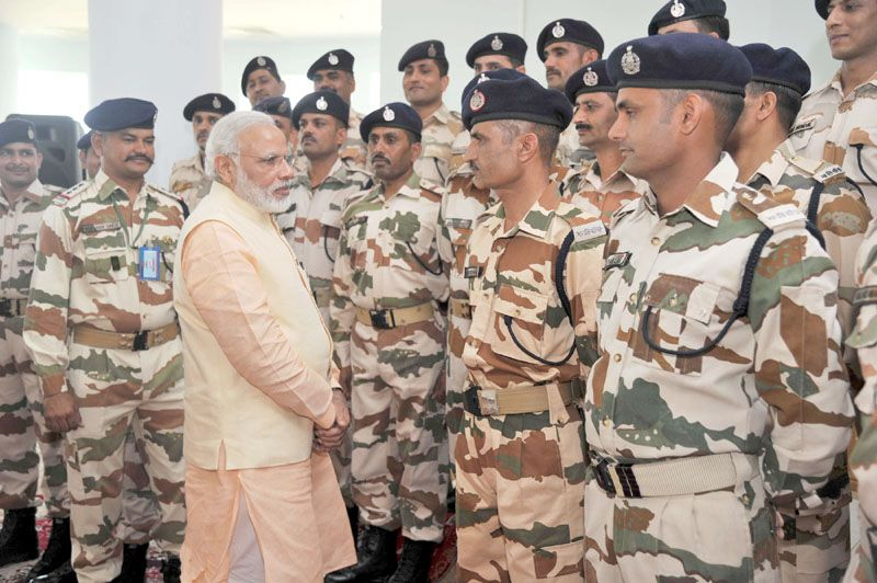 Prime Minister Narendra Modi interacting with ITBP Jawans in Afghanistan