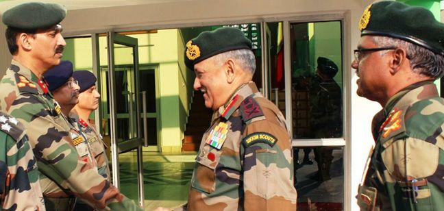 The Chief of Army Staff visiting Jammu & Kashmir
