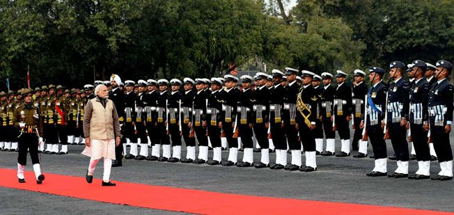 'Guard of Honour', at the War Memorial in Indian Military Academy, Dehradun