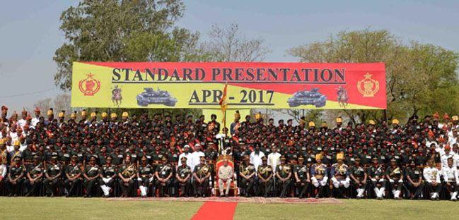 President's Standard to Armoured Corps Centre and School Ahmednagar