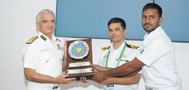 INS Sumitra awarded Special Search and Rescue (SAR) Award by NMSAR