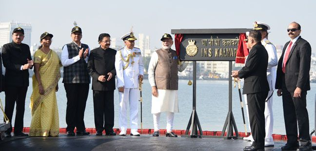 Commissioning the Naval Submarine INS Kalvari
