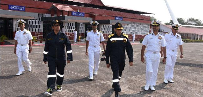 The Raksha Mantri Visits Goa Naval Area