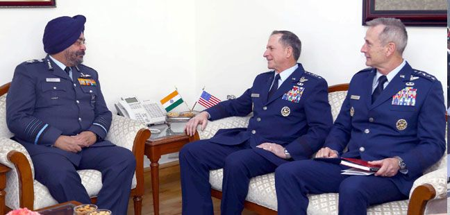 Visit of Chief of Staff of the US Air Force