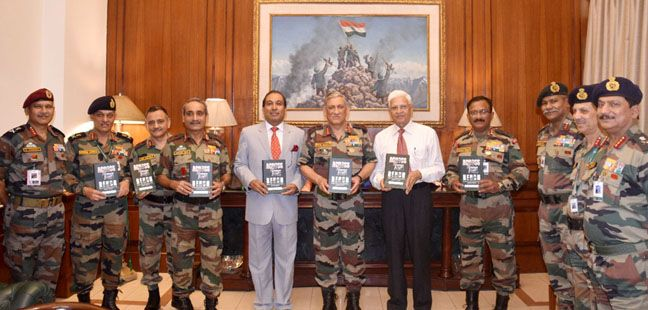 General Bipin Rawat releasing the book 'Across the Bench - Insight into the Indian Military Judicial System'