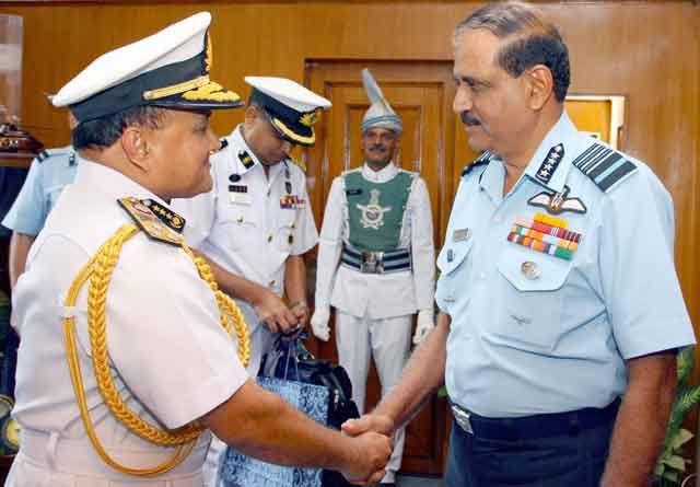 Vice Admiral Zahir Uddin Ahmed, Bangladesh Navy calling on Air Chief Marshal Nak Browne