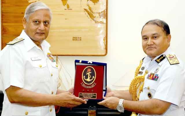 Vice Admiral Zahir Uddin Ahmed, Bangladesh Navy calling on Admiral Nirmal Verma