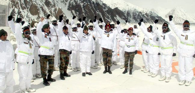 Union Minister for Defence Rajnath Singh visiting the world's highest battlefield, Siachen