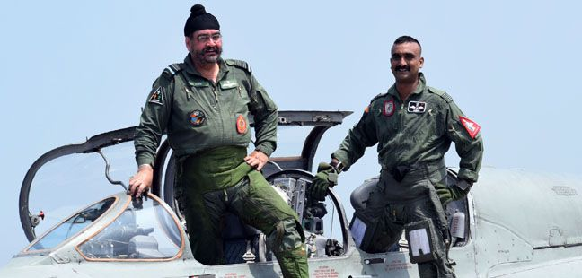 CAS flies with Wg Cdr Abhinandan Varthaman at Air Force Station Pathankot