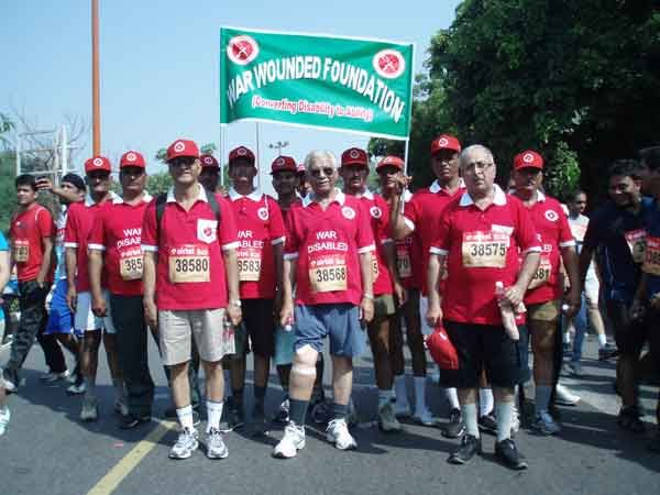 War Wounded participated in the Delhi Half-Marathon