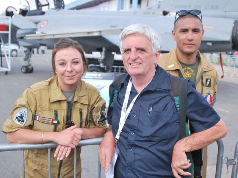 Claude Arpi with French Air Force Pilot