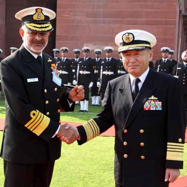 Admiral Katsutoshi Kawano, Chief of Staff, JMSDF visiting India